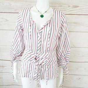 Anthropologie Lulumarie peplum style blouse